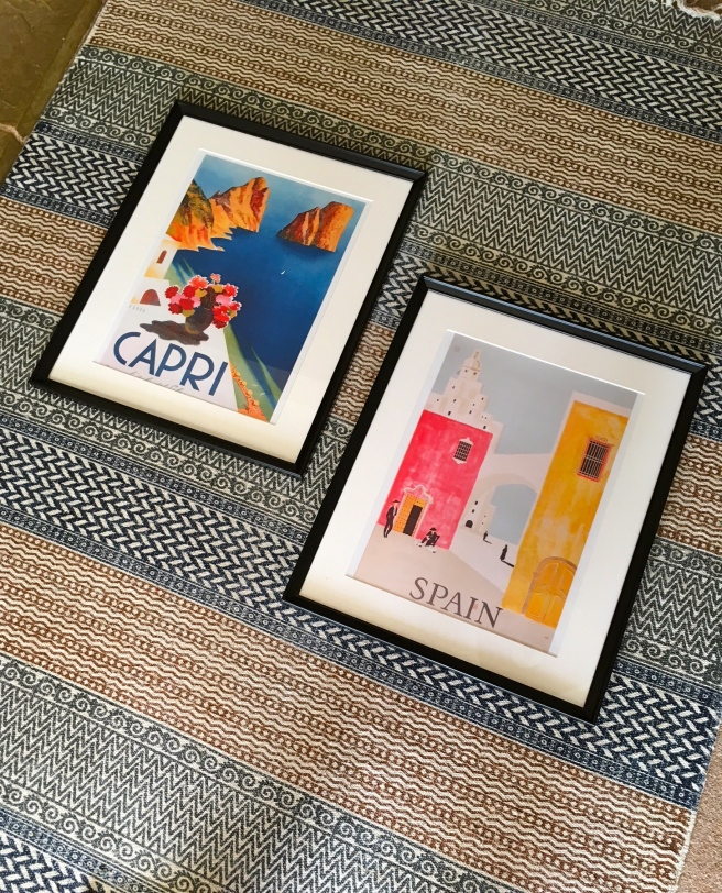 Etsy prints of Capri, Italy and Spain