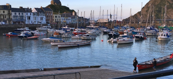 Ilfracombe Harbour, Devon.