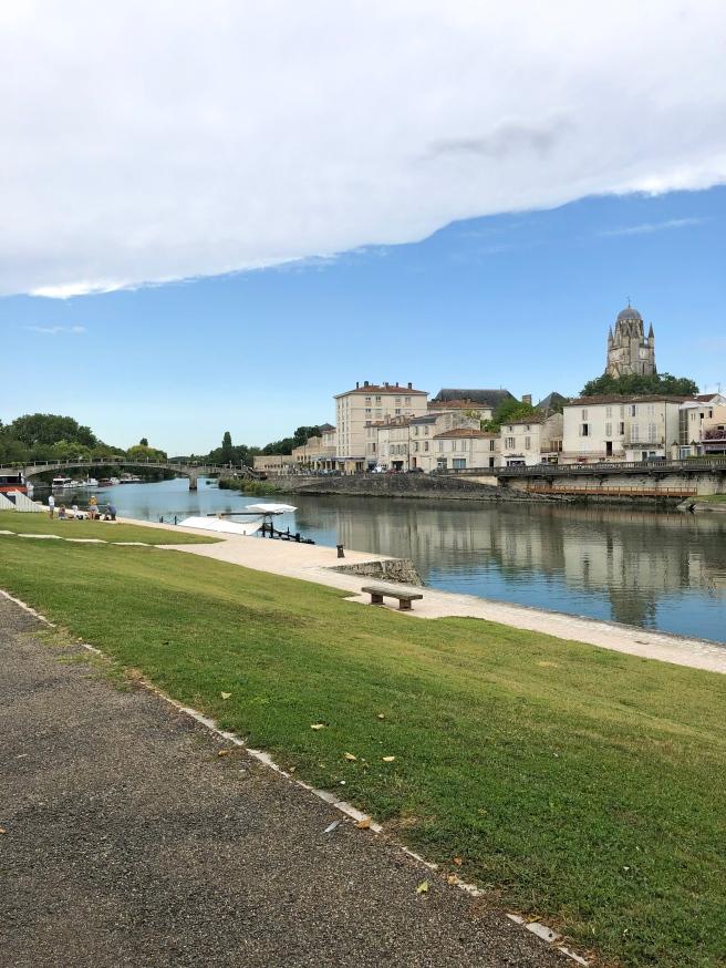 Saintes Town France